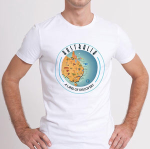 Australian Collection Compressed T-Shirt - Map