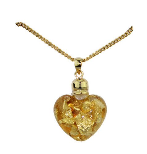 Gold & Glass Heart Shape Necklace