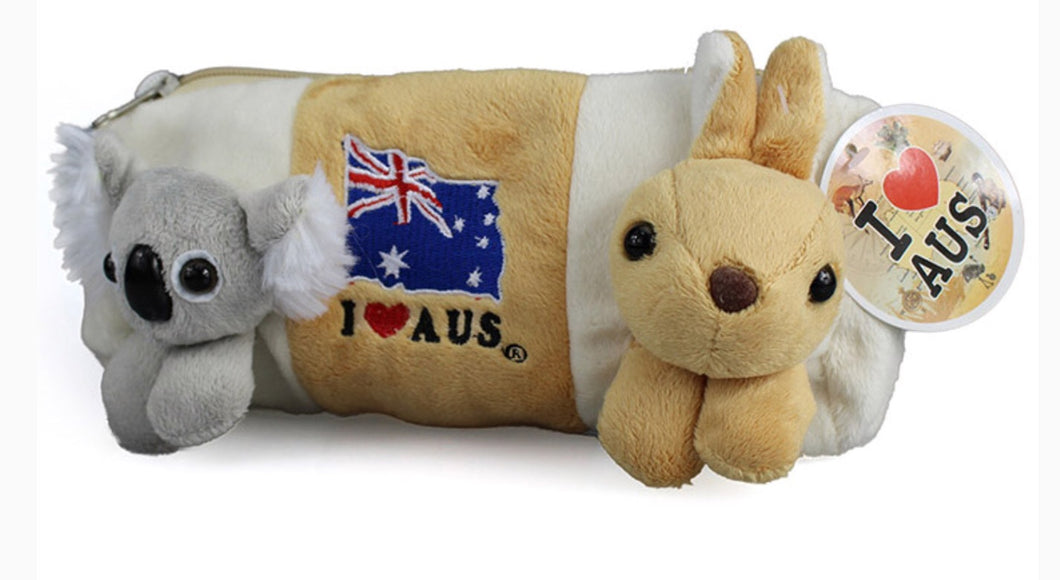 Koala and Kangaroo Pencil Case