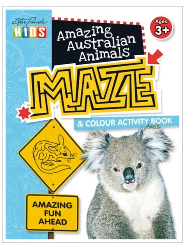 Amazing Maze & Colouring Book