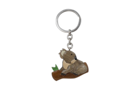 Timber Keyring - Koala Log
