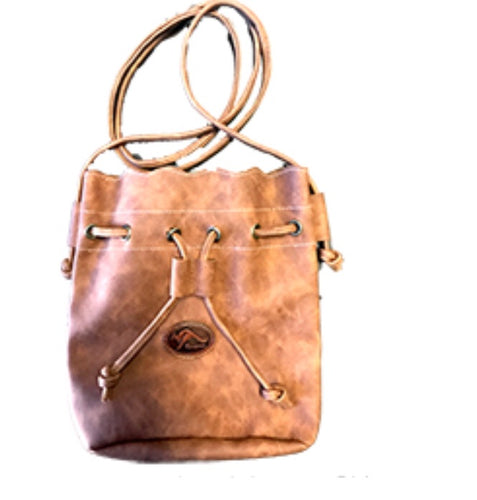 Leather Cross Body Bag - Brown