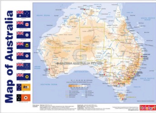 Double Sided Poster - Map Of Australia and Prime Ministers