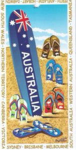 AUSSIE THONGS DESIGN BEACH TOWEL