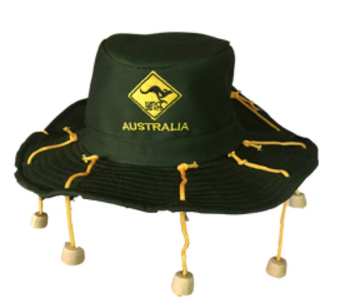 Iconic Australian Swaggy Hat - Green/Navy