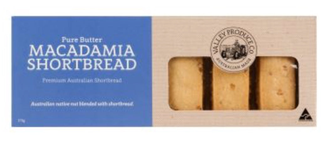 Valley Produce Shortbread Macadamia 175g