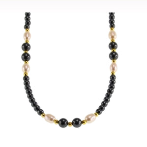 Iron Ore Fresh Water Pearl Necklace