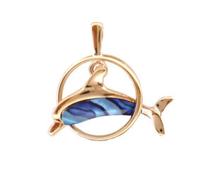 DOLPHIN IN RING PENDANT GP887