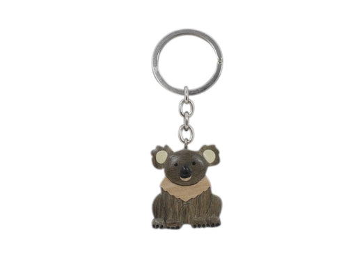Timber Keyring - Koala Squatting