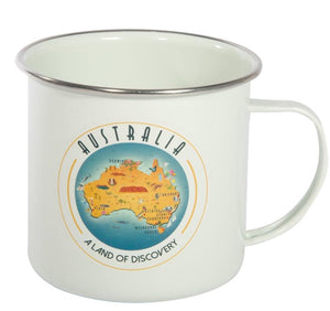 Australian Collection Enamel Mug - Map