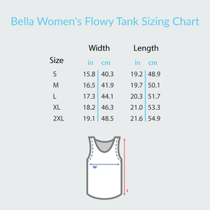Music and Tulips - Bella + Canvas Women's Flowy Racerback Tank