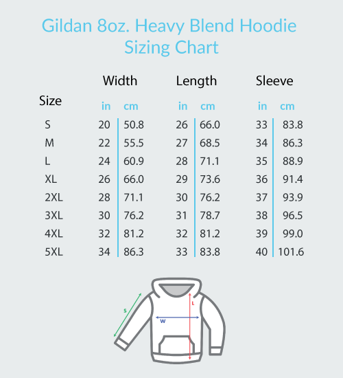 Four Floating Heart Notes  - Gildan Adult Heavy Blend™ Hoodie