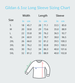 Music Hearts and Notes - Gildan Adult Classic Long Sleeve T-Shirt