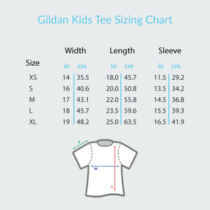 Guitar Breeze White - Gildan Youth Short Sleeve T-Shirt