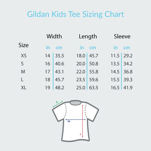 Musical Notes Spiral - Gildan Youth Short Sleeve T-Shirt