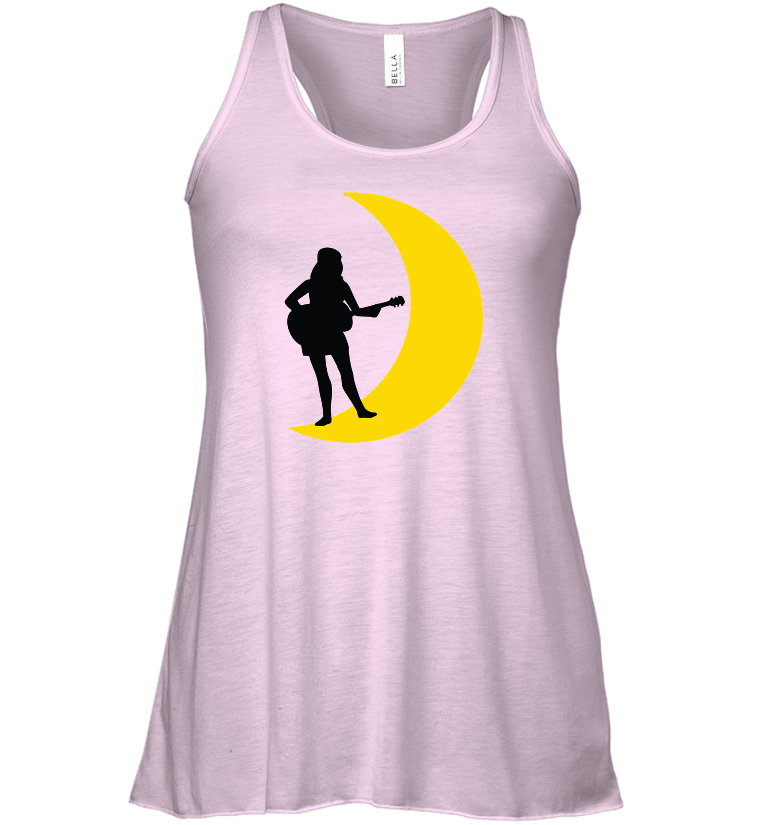 Moonlight Guitar Player - Bella + Canvas Women's Flowy Racerback Tank