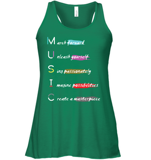 Unleash your Musical Masterpiece - Bella + Canvas Women's Flowy Racerback Tank