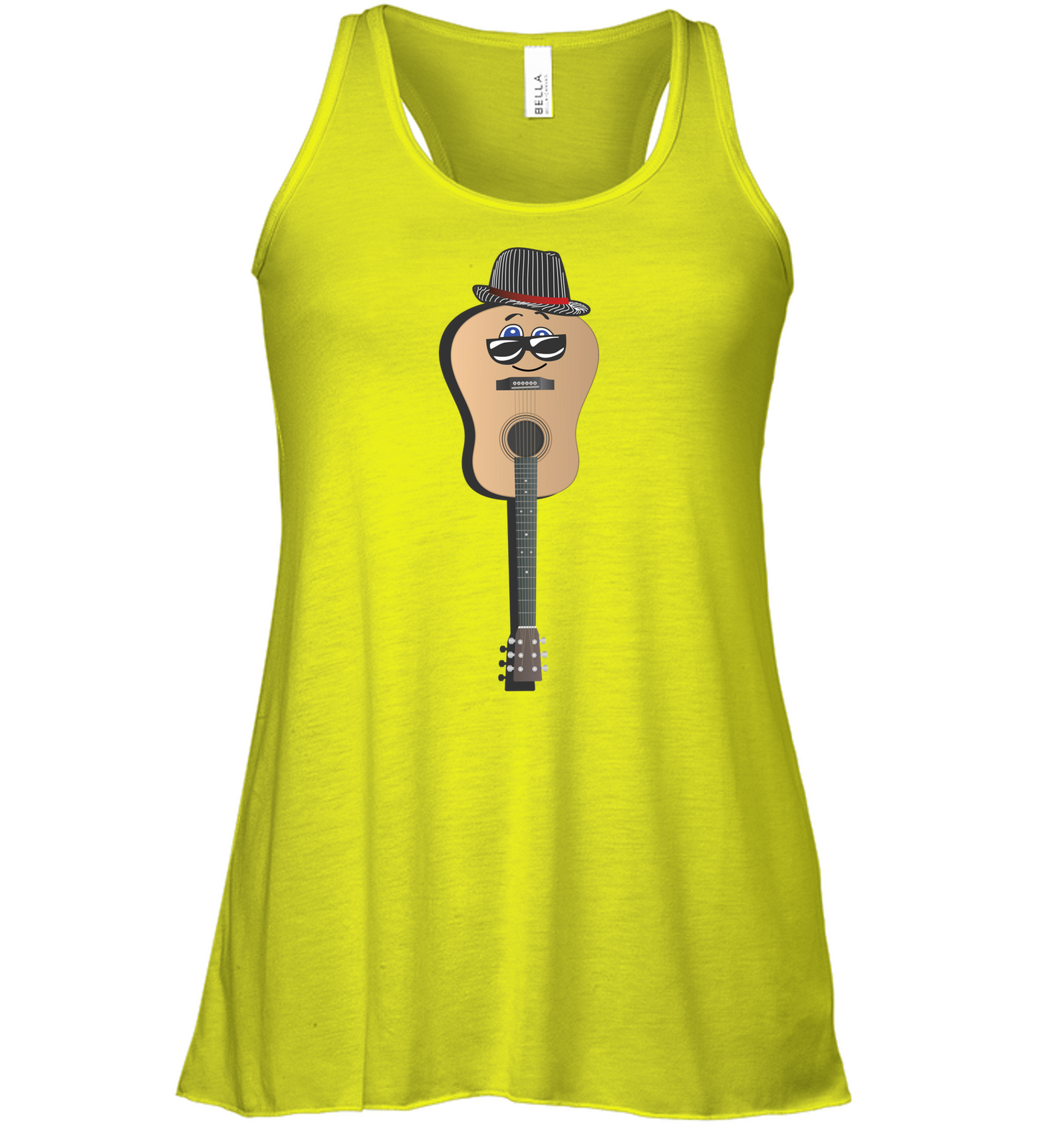 Guitar Man - Bella + Canvas Women's Flowy Racerback Tank
