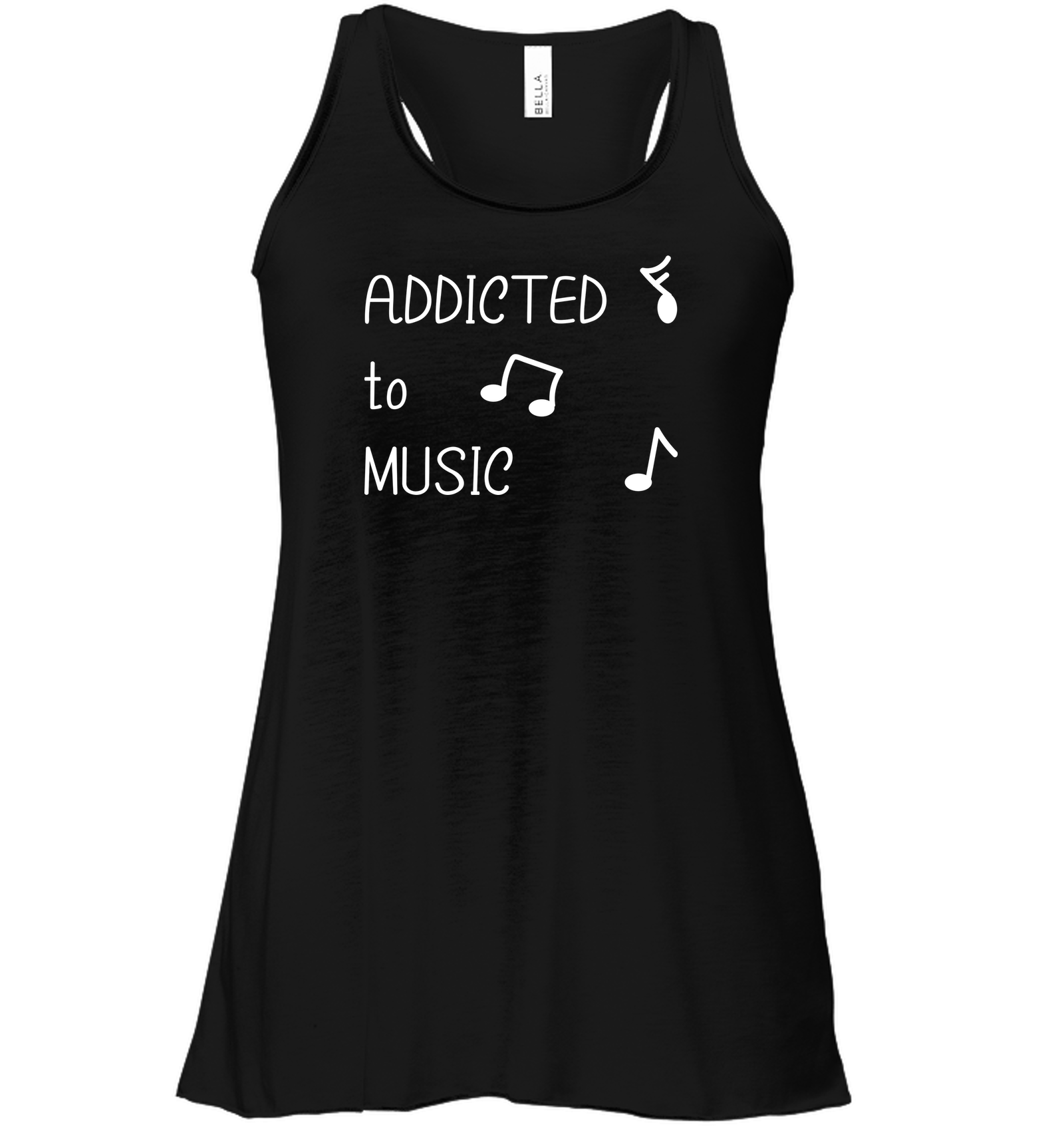 Addicted to Music - Bella + Canvas Women's Flowy Racerback Tank