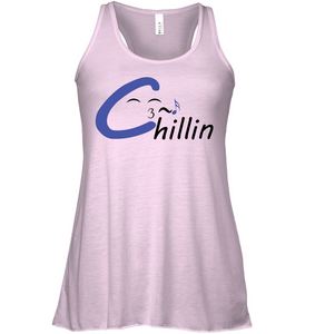Chillin enjoying music - Bella + Canvas Women's Flowy Racerback Tank
