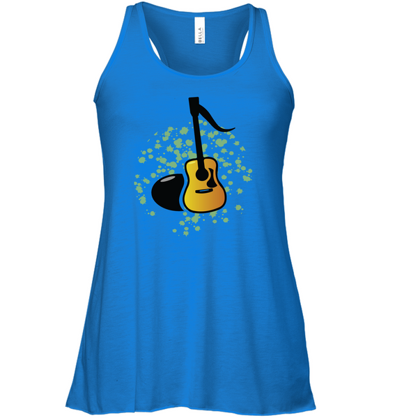 Acoustic Guitar Note - Bella + Canvas Women's Flowy Racerback Tank