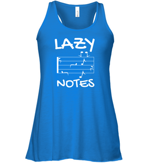 Lazy Notes - Bella + Canvas Women's Flowy Racerback Tank