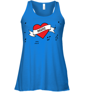 Musical Heart - Bella + Canvas Women's Flowy Racerback Tank