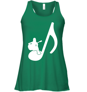 Sitting on a Note - Bella + Canvas Women's Flowy Racerback Tank