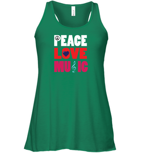 Peace Love Music - Bella + Canvas Women's Flowy Racerback Tank