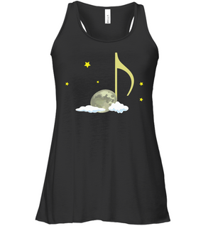 Night Note and stars - Bella + Canvas Women's Flowy Racerback Tank