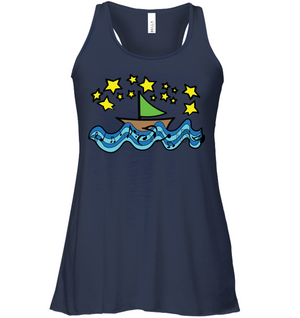 Sailing Under the Stars - Bella + Canvas Women's Flowy Racerback Tank