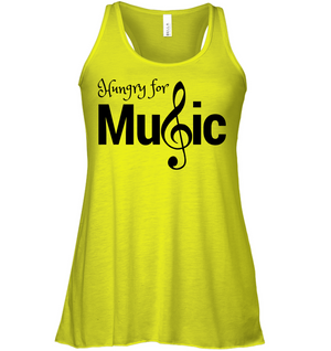 Hungry for Music - Bella + Canvas Women's Flowy Racerback Tank
