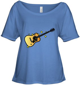 Acoustic Guitar in the Stars - Bella + Canvas Women's Slouchy Tee