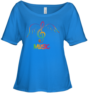 Musical Wings - Bella + Canvas Women's Slouchy Tee