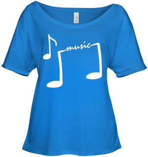 Musical Feet - Bella + Canvas Women's Slouchy Tee