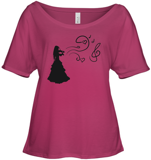 Girl Playing Violin - Bella + Canvas Women's Slouchy Tee