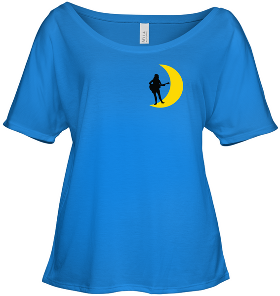 Moonlight Guitar Player (Pocket Design) - Bella + Canvas Women's Slouchy Tee