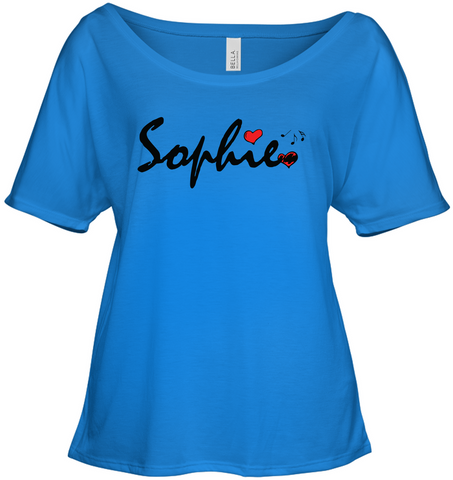 Sophie Loves Music - Bella + Canvas Women's Slouchy Tee