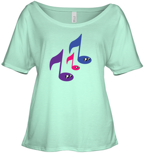 3 Note Friends - Bella + Canvas Women's Slouchy Tee