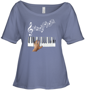 Playin the Keyboard - Bella + Canvas Women's Slouchy Tee