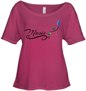 Music and Tulips - Bella + Canvas Women's Slouchy Tee
