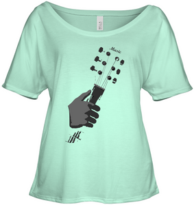 Guitar in my Hand - Bella + Canvas Women's Slouchy Tee