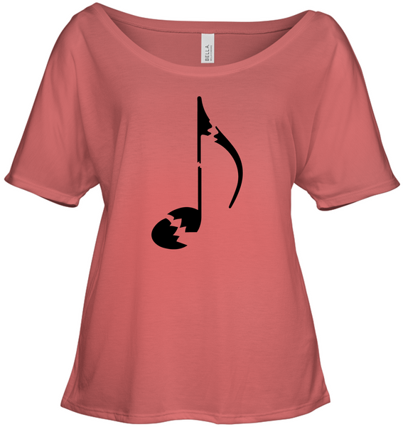 Broken Note - Bella + Canvas Women's Slouchy Tee