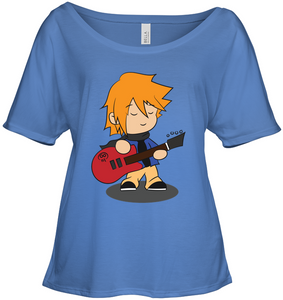 Boy with Guitar - Bella + Canvas Women's Slouchy Tee