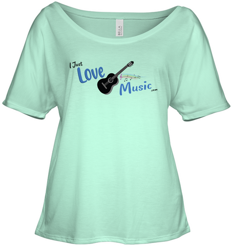 I Just LOVE Music  - Bella + Canvas Women's Slouchy Tee