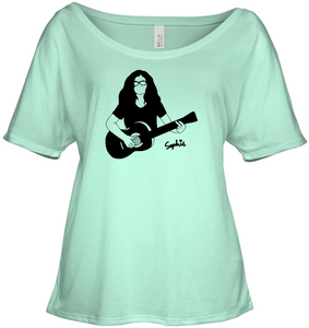 Playin My Guitar, Sophie - Bella + Canvas Women's Slouchy Tee
