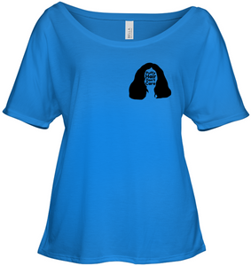 Puffy Hair Don't Care, Sophie (Pocket Size) - Bella + Canvas Women's Slouchy Tee
