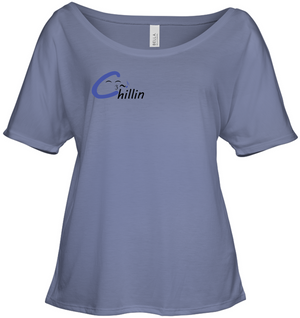 Chillin enjoying music (Pocket Size) - Bella + Canvas Women's Slouchy Tee