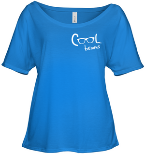 Cool Beans - White (Pocket Size) - Bella + Canvas Women's Slouchy Tee