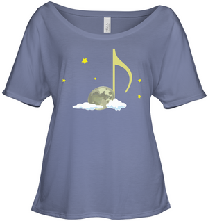 Night Note and stars - Bella + Canvas Women's Slouchy Tee